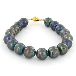 Saltwater Baroque Black Pearl Bracelet (JEW-250P)