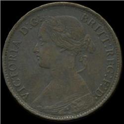 1862 Britain Victoria Farthing High Grade (COI-7058)