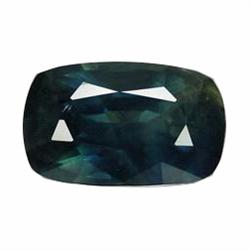 1.48ct.Natural Greenish Blue Sapphire Cushion Facet Africa (GEM-19567)