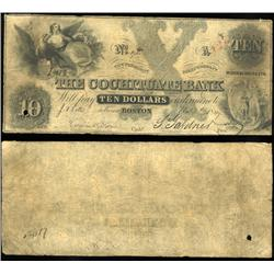 1849 Cochituate Bank Boston $10 Note Better Grade (CUR-06251)