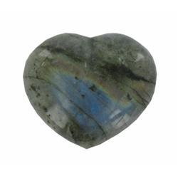 67.39ct Gem Grade Labradorite Polished Heart Neon Peacock Colors (GEM-21172)