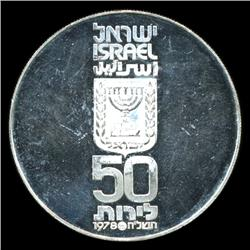 1978 Israel 50 Lirot Silver Proof (COI-5742)