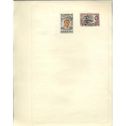 1950s Nigeria Hand Made Stamp Collection Album Page 2 Pieces (STM-0246)