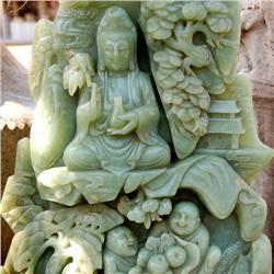 140lb Natural Jade Carved KwanYin Appraised $350k (GEM-040810)