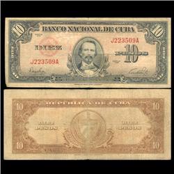 1949 Cuba 10 Peso Circulated Note (CUR-05588)