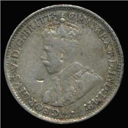 1934 Australia Silver 3 Pence Hi Grade Scarce (COI-6668)