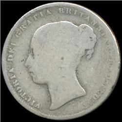 1859 Britain Victoria Shilling Better Grade (COI-7030)