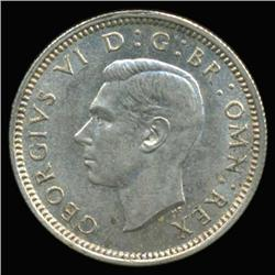 1942 British Silver Six Pence MS63+ (COI-6794)