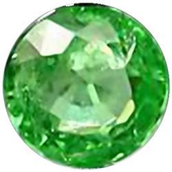 2.5mm Round Cut Top AAA Green Garnet Tanzania VVS (GMR-0301)