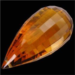 45.70ct Awesome Madeira Citrine Briolette Cut (GEM-23625)