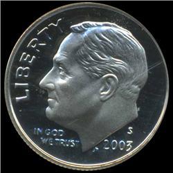 2003S Roosevelt Dime Graded PR70 DCAM (COI-4797)