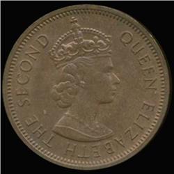 1968 Seychelles 2 Cent Elizabeth AU/UNC (COI-6960)