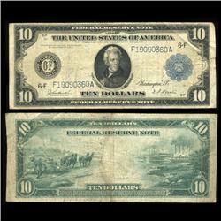 1914 US $10 Note Rare Hi Grade (COI-5271)