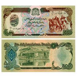 1991 Afghanastan 500 Afghanis Crisp Unc Note (CUR-05619)