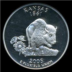 2005S Kansas Silver Quarter Graded NGC PR69 DCAM (COI-5474)