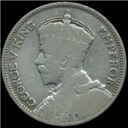 1933 New Zealand Shilling George V Better Grade (COI-6982)