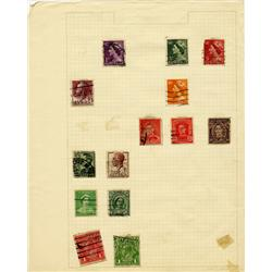 1920s/50s Australia Hand Made Stamp Collection Album Page 14 Pieces (STM-0284)
