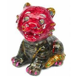1200ct. Cat Statue Fancy Sapphire~Topaz (GEM-9745)