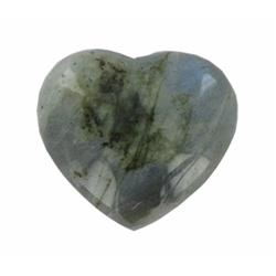 62.82ct Gem Grade Labradorite Polished Heart Neon Peacock Colors (GEM-21175)