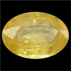 0.95ct Natural Yellow Thailand Sapphire Oval  (GEM-23343)