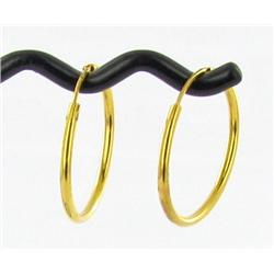"1.5Gram New 23k Gold 3/4"" Hoop EarLadies Rings (JEW-1486)"