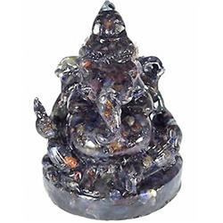 670ct. Nice Blue Sapphire Ganesh Buddha Statue (GEM-4903)