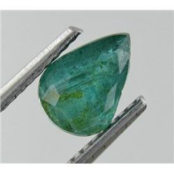 0.86ct Natural Mint Green Zambian Emerald Pear Facet (GEM-19069)