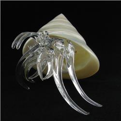 Hand Formed Glass Hermit Crab (DEC-265)