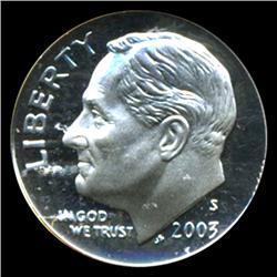 2003S Roosevelt Dime Graded PR70 DCAM (COI-4760)