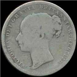 1880 Britain Victoria Shilling Better Grade (COI-7029)