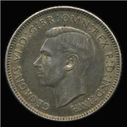 1942D Australia Silver 6 Pence Hi Grade Minted DENVER! (COI-6660)