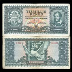 1946 Hungary 10000000 Pengo Note Hi Grade Scarce (CUR-05654)
