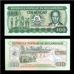 1983 Mozambique 100 Meticils Crisp Uncirculated Note (COI-4565)
