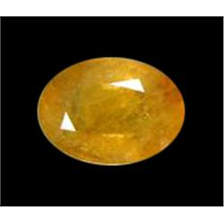 2.98ct Canary Yellow Africa Sapphire Oval Facet  (GEM-20115A)