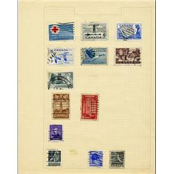 1940s/50s Canada Hand Made Stamp Collection Album Page 13 Pieces (STM-0293)