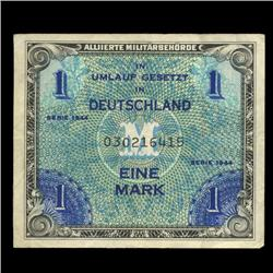 1944 Germany WW2 Allied Military 1 Mark RARE Hi Grade (COI-1333)