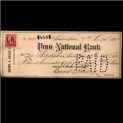 1898 Penn National Bank Check (COI-3269)