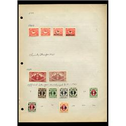 1923 Danzig Hand Made Stamp Collection Album Page 13 Pieces (STM-0109)
