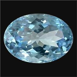 4.05ct TOP GRADE Swiss Blue Oval Topaz  (GMR-1016)