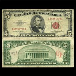 1953 $5 US Note Circulated (CUR-06049)