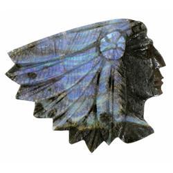 53.7ct Handcarved Rare Australian Boulder Opal Indian (GEM-20896)