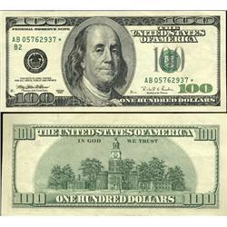 1996 $100 US Federal Reserve New York Star Note Crisp Unc (CUR-06242)