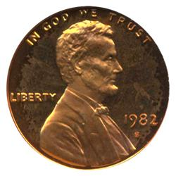 1982S PROOF Lincoln Cent Coin Graded PR68 DCAM Red (COI-4281)