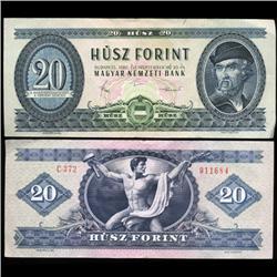1980 Hungary 20 Forint Note Hi Grade Scarce (CUR-05772)