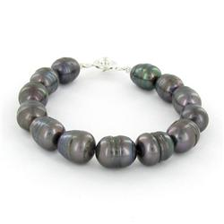 Saltwater Baroque Black Pearl Bracelet (JEW-250N)
