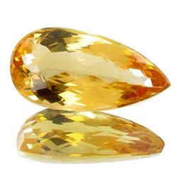 2.49ct Pear Natural AAA Ouro Preto Imperial Topaz IF Grade RETAIL  (GEM-1243)