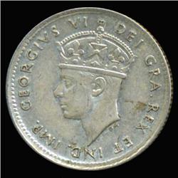 1945 Canada Newfoundland 5c Silver Hi Grade RARE (COI-6756)