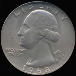 1968D Washington 25c Quarter Coin Graded GEM (COI-6857)