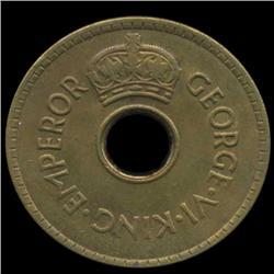 1942S Fiji Penny George V Choice Unc Scarce US Minted (COI-6992)