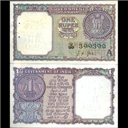 1963 India 1 Rupee Crisp Uncirculated (CUR-06195)